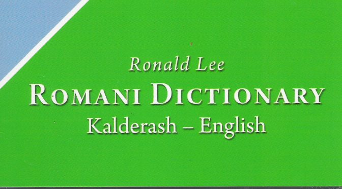 Romani Dictionary:  Kalderash – English